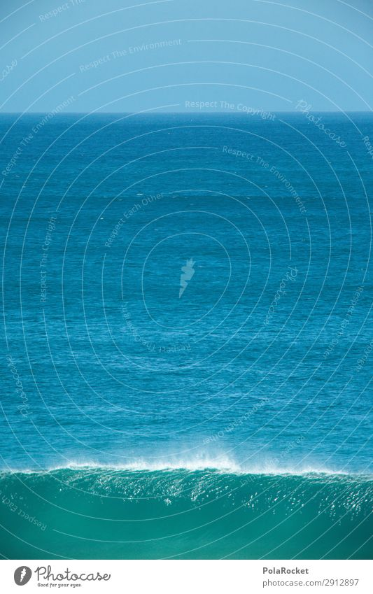 #A# Blue punch Art Esthetic Ocean Waves Swell Undulation Wave break Wellenkuppe Colour photo Subdued colour Exterior shot Detail Experimental Abstract Deserted