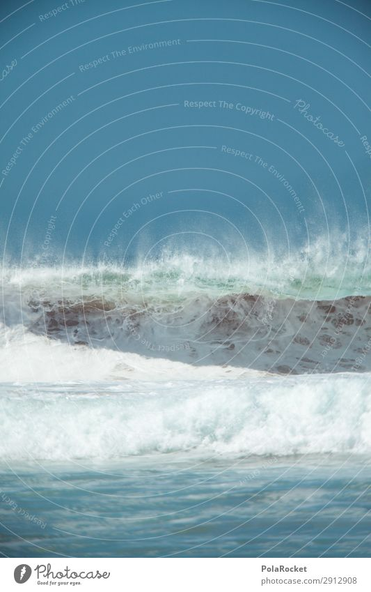 #A# Watercolor Art Work of art Esthetic Surfing Surfer Surfboard Surf school Waves Swell Undulation Wave length Wave action Colour photo Subdued colour