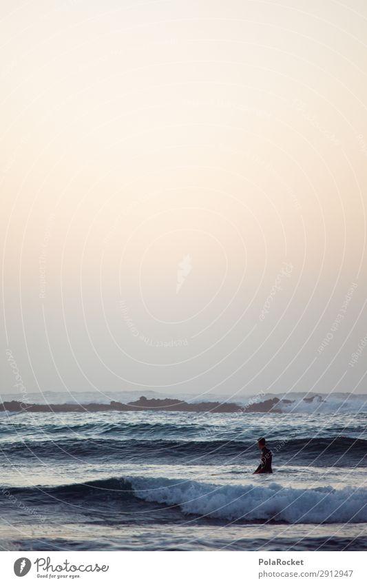#AE# Outlook Art Esthetic Ocean Waves Swell Undulation Wave action Wave break Surfing Surfer Surfboard Surf school Colour photo Subdued colour Exterior shot