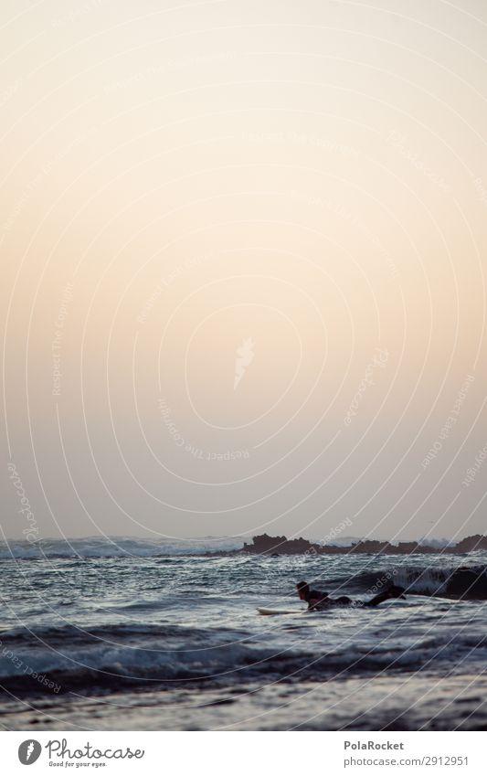 #A# back to beach Art Esthetic Ocean Surfing Surfer Surfboard Surf school Waves Swell Fuerteventura Colour photo Subdued colour Exterior shot Detail