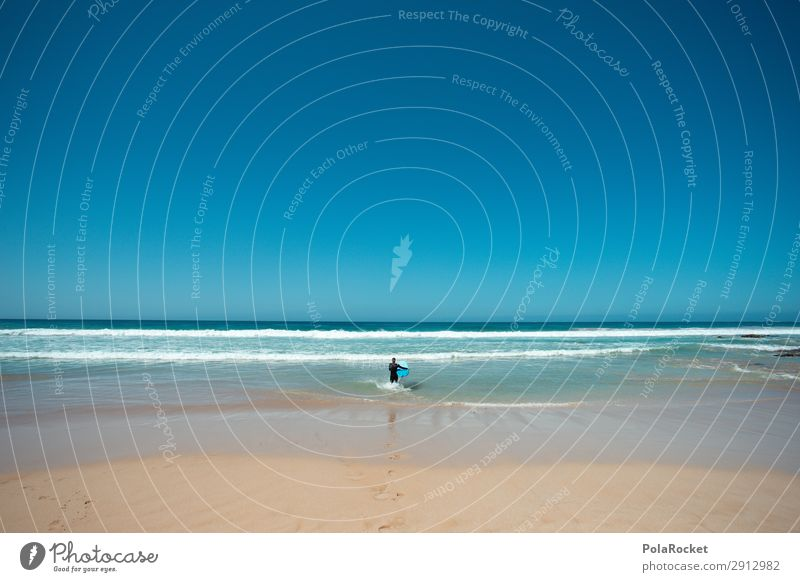 #A# let's go Art Work of art Esthetic Surfing Surfer Surfboard Surf school Ocean Waves Fuerteventura Blue Summer Summer vacation Colour photo Multicoloured