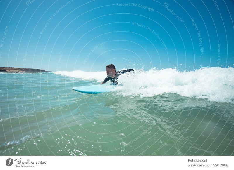 #AT# getting it Art Esthetic Ocean Waves Swell Undulation Wavy line Wave action Wave break Surfing Surfer Surfboard Surf school Fuerteventura Colour photo