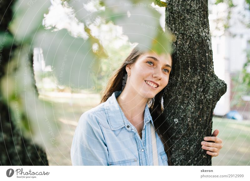 tourist girl walking in a summer Park Lifestyle Beautiful Personal hygiene Wellness Harmonious Leisure and hobbies Playing Vacation & Travel Tourism Trip