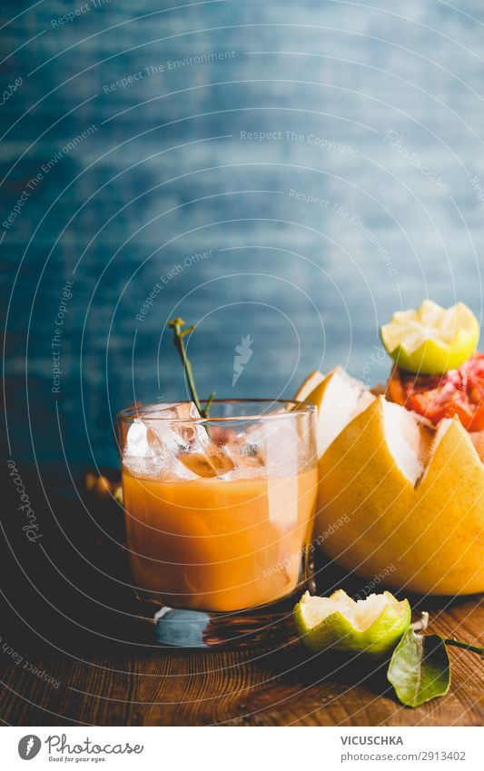 Citrus juice in a glass Food Fruit Orange Nutrition Breakfast Organic produce Vegetarian diet Beverage Juice Glass Style Design Healthy Eating
