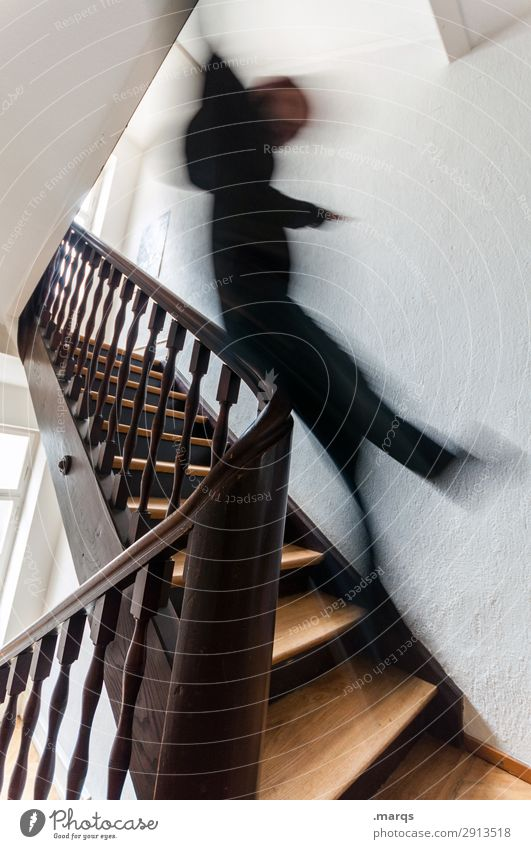 Slippery, fuzzy. Body Leisure and hobbies Adults 1 Human being Banister Staircase (Hallway) Speed Joy Happiness Joie de vivre (Vitality) Cool (slang) Movement