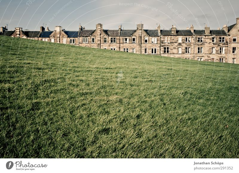 *** 500 *** Meadow Edinburgh Scotland Great Britain Small Town Capital city Outskirts Old town Skyline Populated House (Residential Structure) Detached house