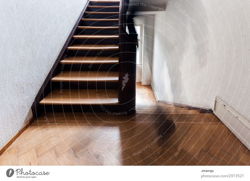 Human being Movement Going Stairs Walking Beginning Staircase (Hallway) Date Old building