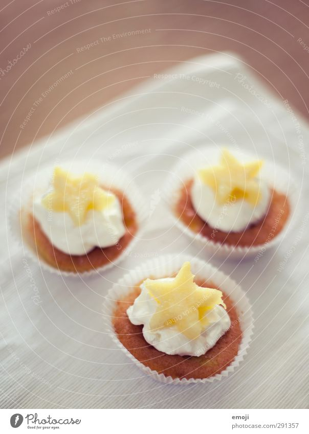 *** Dessert Candy Muffin Cupcake Nutrition Finger food Napkin Delicious Sweet Colour photo Close-up Deserted Copy Space top Neutral Background Day