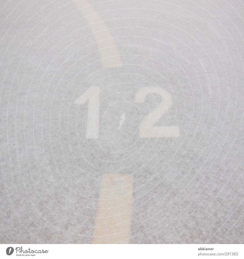 White Winter 1 Snow Bright 2 Ice Frost Digits and numbers Sign 12