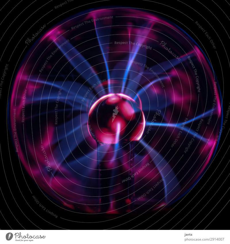 plasma lamp III Technology Science & Research Advancement Future High-tech Glass Touch Hot Strong Energy Plasma globe Lightning globe Colour photo Studio shot
