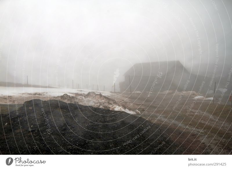 Disturbance factor | Fog pee on the lens Environment Nature Elements Earth Air Sky Winter Ice Frost Hill House (Residential Structure) Hut Old Poverty Threat