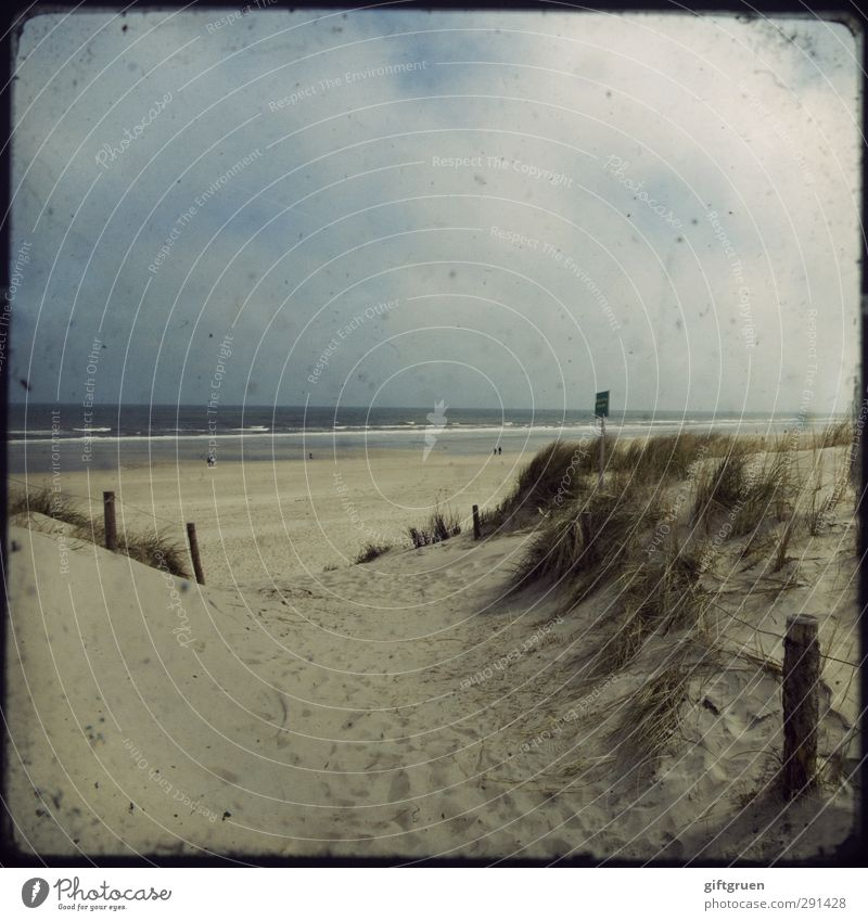 Sky Nature Water Ocean Clouds Beach Landscape Far-off places Environment Lanes & trails Coast Sand Swimming & Bathing Waves Signs and labeling Elements