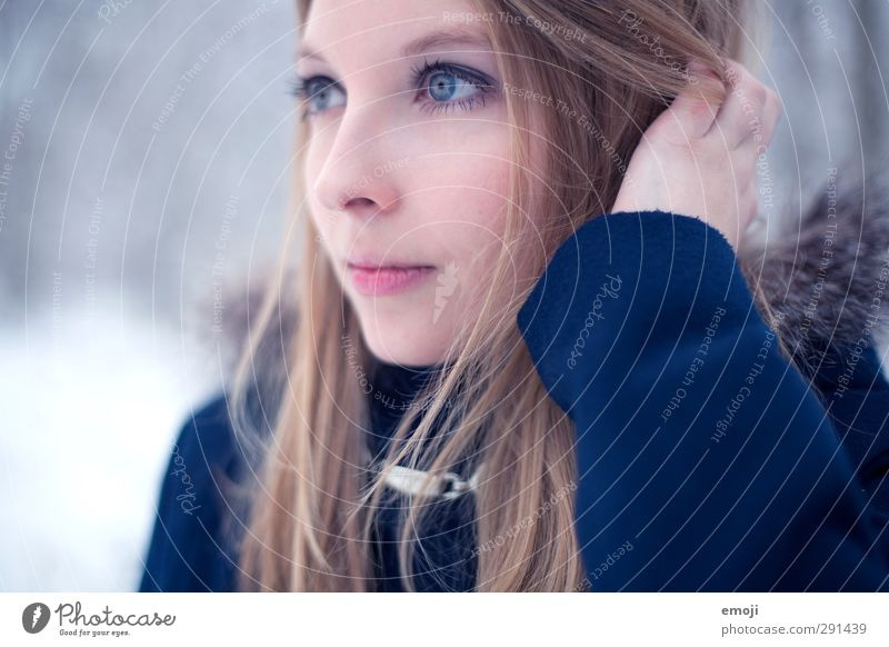Human being Child Youth (Young adults) Beautiful Face Adults Young woman Cold Feminine 18 - 30 years Blonde 13 - 18 years