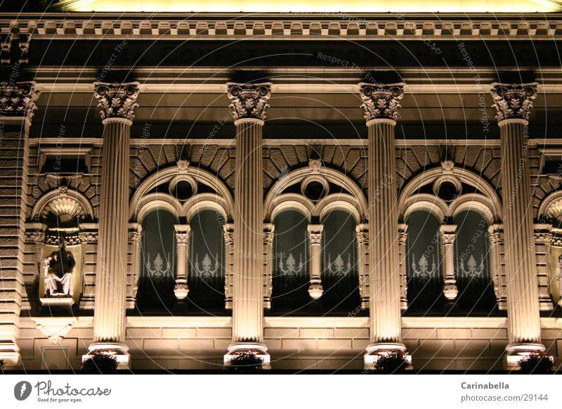 federal parliament Night Window Architecture Canton Bern Lighting sandstone wall