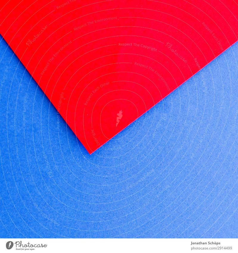 Blue Red Background picture Copy Space Illuminate Paper Simple Tilt Graphic Handicraft Geometry Conceptual design Cardboard Minimalistic Flat Gaudy