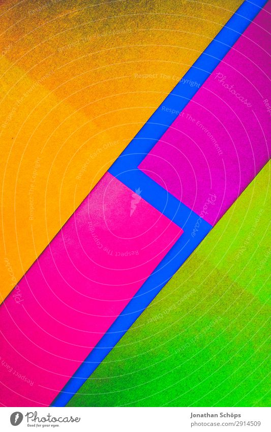 Blue Red Background picture Yellow Copy Space Pink Illuminate Paper Simple Graphic Sharp-edged Handicraft Geometry Conceptual design Cardboard Neon