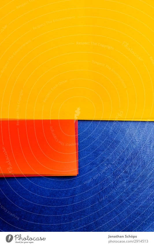 graphic background image made of coloured paper Handicraft Paper Illuminate Simple Blue Yellow Red Background picture Flat Geometry Right ahead Graphic Flashy