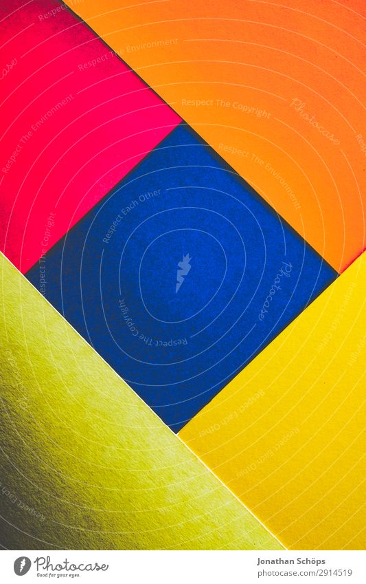 Blue Red Background picture Yellow Copy Space Pink Illuminate Paper Simple Graphic Sharp-edged Square Handicraft Geometry Conceptual design Cardboard