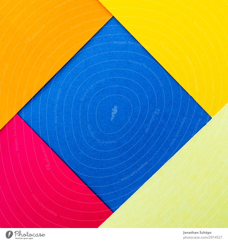 Blue Colour Red Background picture Yellow Copy Space Pink Illuminate Paper Simple Graphic Square Handicraft Geometry Frame Conceptual design