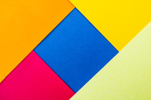 Blue Colour Red Background picture Yellow Copy Space Orange Pink Illuminate Paper Simple Tilt Graphic Square Handicraft Geometry