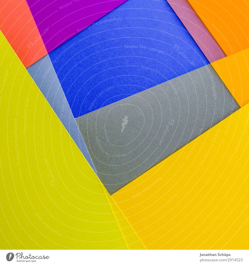 Blue Colour Red Background picture Yellow Copy Space Pink Illuminate Paper Simple Graphic Double exposure Square Handicraft Geometry Conceptual design