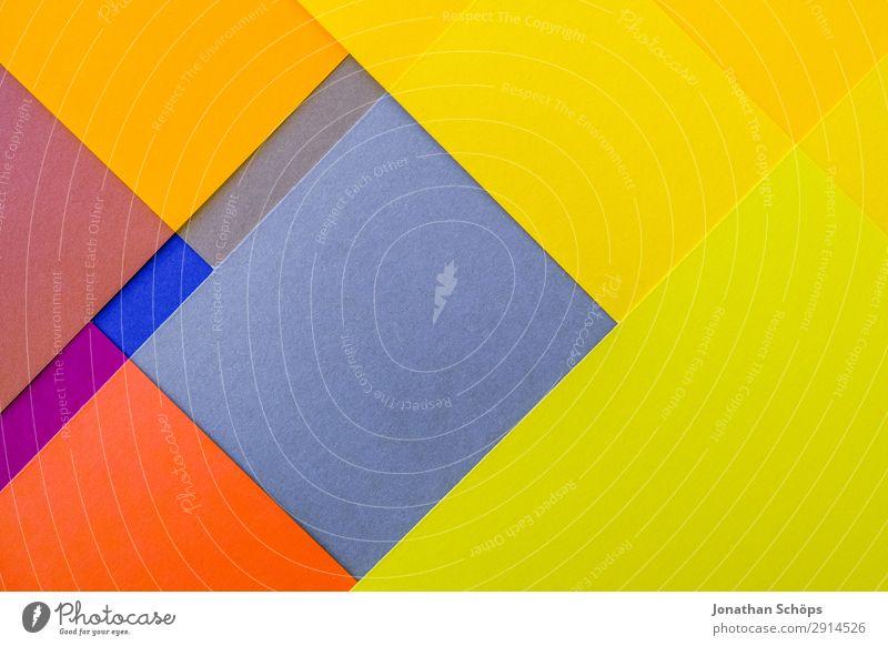 Blue Colour Red Background picture Yellow Copy Space Orange Illuminate Paper Simple Tilt Graphic Double exposure Square Handicraft Geometry