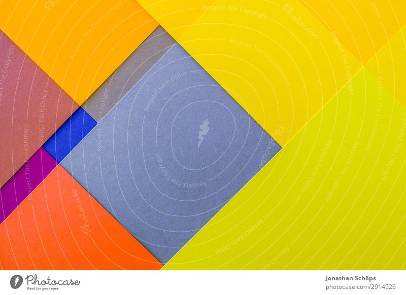 graphic background image made of coloured paper Handicraft Paper Illuminate Simple Blue Yellow Red Background picture Square Flat Geometry Graphic Flashy