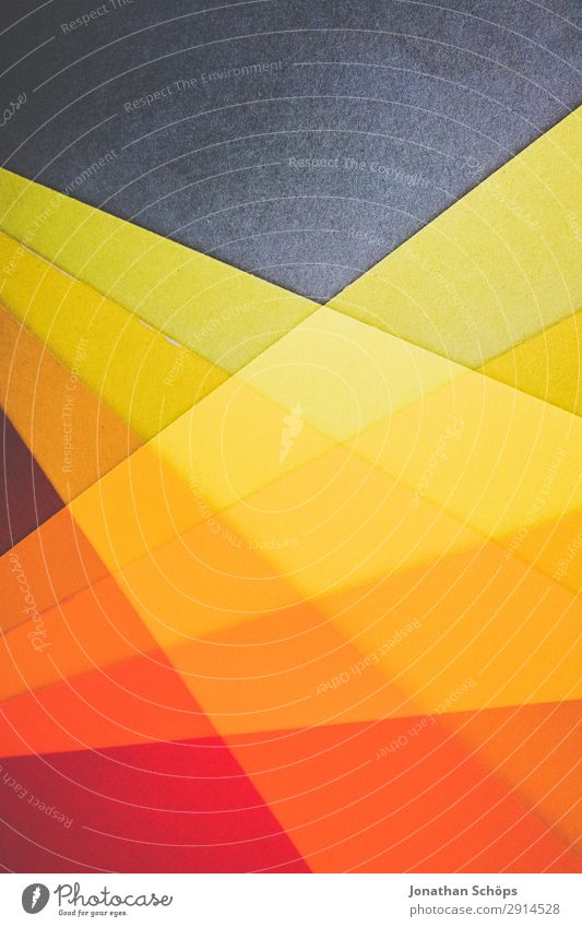 graphic background image made of coloured paper Handicraft Paper Simple Yellow Red Background picture Flat Geometry Graphic Conceptual design Minimalistic