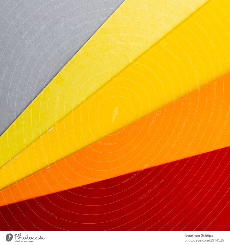 graphic background image made of coloured paper Handicraft Paper Simple Yellow Gray Orange Red Background picture Flat Geometry Graphic Conceptual design