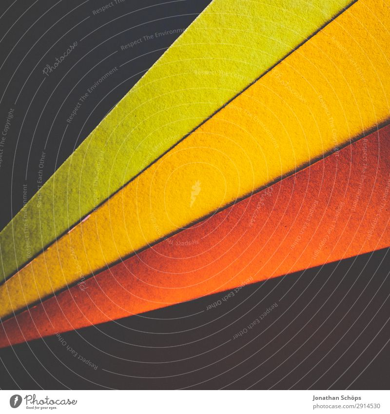 Green Red Background picture Yellow Art Copy Space Orange Paper Simple Graphic Upward Handicraft Geometry Frame Conceptual design Play of colours