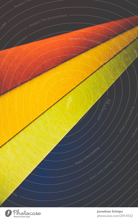 Green Red Background picture Yellow Art Copy Space Paper Simple Graphic Upward Handicraft Geometry Frame Conceptual design Play of colours Cardboard
