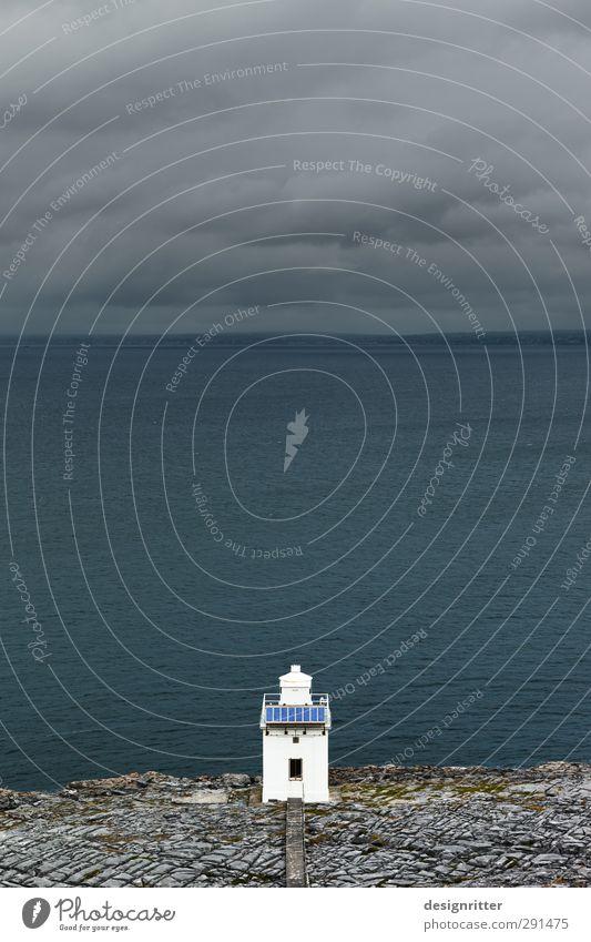 faithful Sky Clouds Rock Mountain Coast Ocean Atlantic Ocean Cliff Ireland Tower Lighthouse Building Navigation Stone Sign Dark Simple Small Blue Gray
