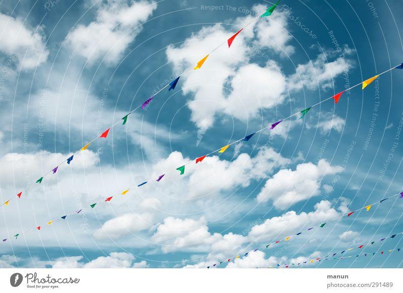 Sky Clouds Feasts & Celebrations Line Happiness Joie de vivre (Vitality) Culture Beautiful weather Sign Flag Event Ease Fairs & Carnivals Bow Joy
