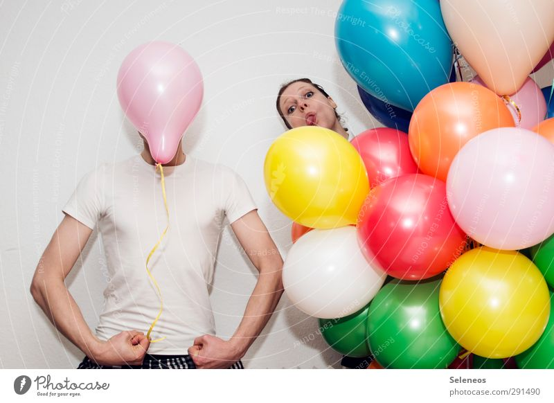 *600* Jubilee Leisure and hobbies Playing Human being Masculine Feminine Woman Adults Man Body Face Arm 2 T-shirt Shirt Balloon Feasts & Celebrations Trashy