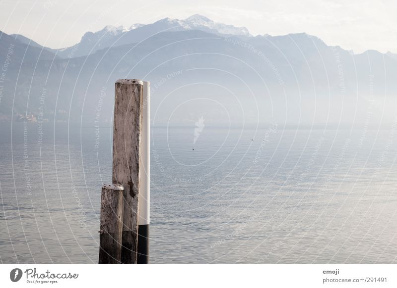 Lake Como Environment Nature Water Lakeside Natural Blue Jetty Colour photo Exterior shot Deserted Copy Space middle Day Shallow depth of field