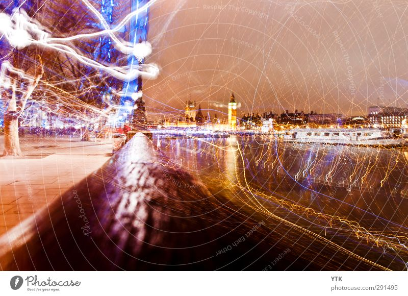 London Electric London Eye Big Ben Themse Capital city Downtown Populated House (Residential Structure) Manmade structures Building Architecture