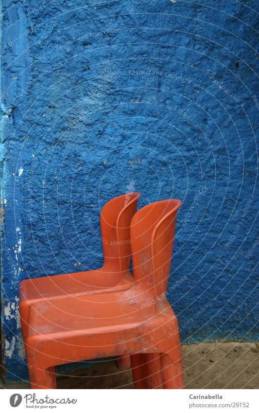 Blue Wall (building) Orange Chair Statue Obscure Venezuela