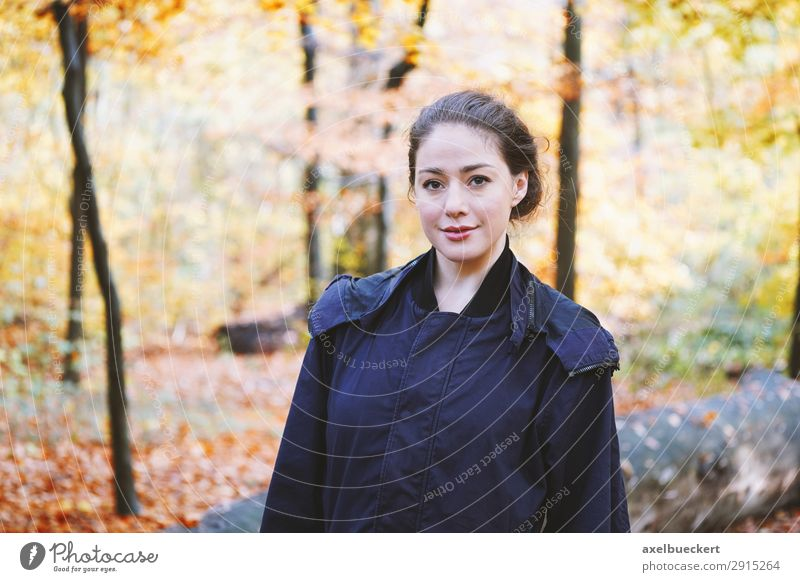 young woman in the autumn forest Lifestyle Leisure and hobbies Human being Feminine Young woman Youth (Young adults) Woman Adults 1 18 - 30 years Nature Autumn