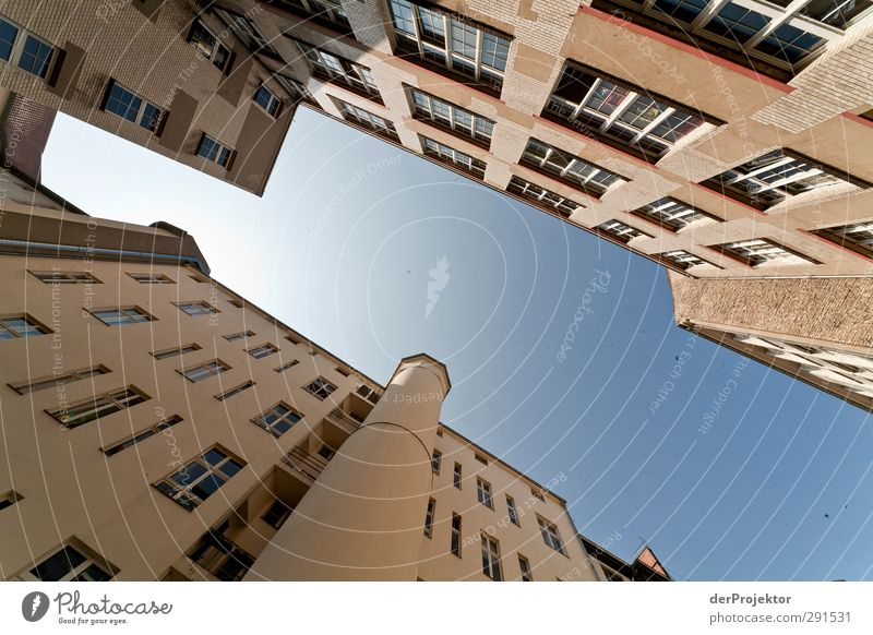 The window to the yard 07 Capital city Downtown Deserted Manmade structures Building Architecture Wall (barrier) Wall (building) Facade Window Life Style Sky