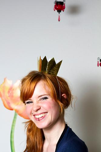 Happy Go Lucky Human being Feminine Young woman Youth (Young adults) 1 18 - 30 years Adults Red-haired Crown Laughter Authentic Happiness Beautiful Uniqueness