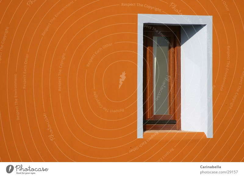 White House (Residential Structure) Window Architecture Facade Sardinia Ochre