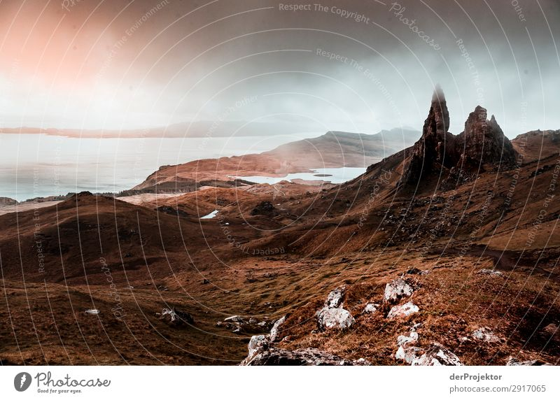 Old Man of Storr in the mist on Isle of Skye XII Trip Tourism Adventure Vacation & Travel Mountain Hiking Environment Far-off places Nature Freedom North Sea