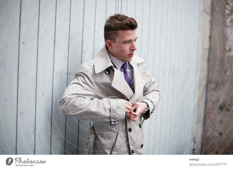 Human being Youth (Young adults) Beautiful Adults Young man 18 - 30 years Fashion Masculine Jacket Hip & trendy Coat Envisage