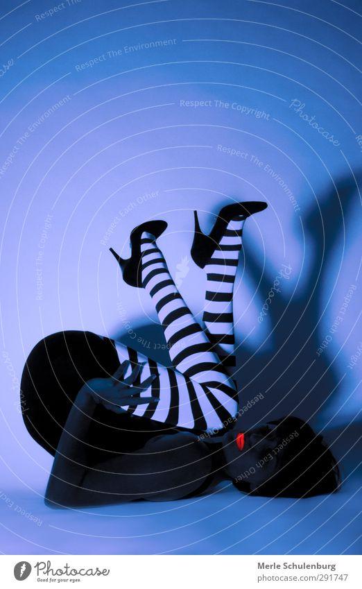 Neon 04 Neon light Blue Orange White Black High heels Footwear Lips Bottom Lipstick Stripe Penitentiary Posture Shadow Lie Dark
