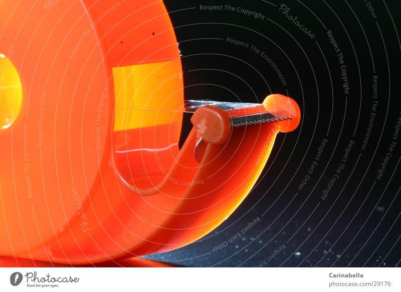 Orange Plastic Adhesive Stationery Adhesive tape Dark background Office Equipment
