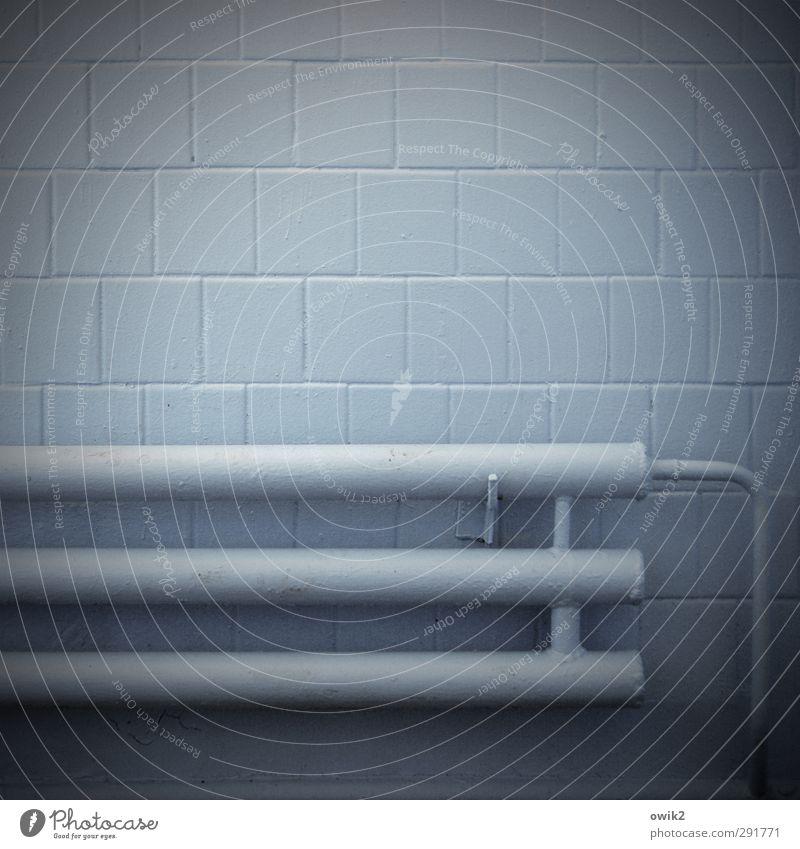 Blue Dark Wall (building) Wall (barrier) Gloomy Simple Tile Heater Cellar Vignetting Simplistic Bracket Eastern Europe Heating pipe