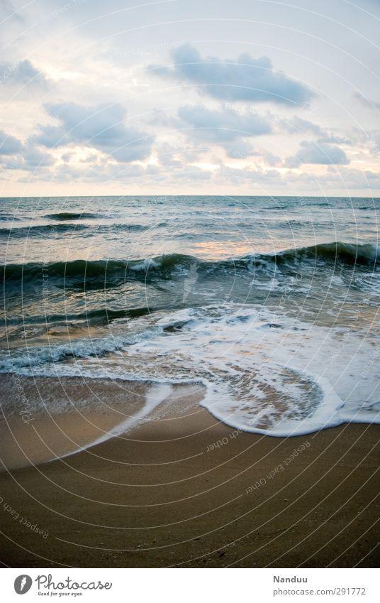 Nature Water Ocean Clouds Calm Beach Landscape Environment Coast Beautiful weather Esthetic Elements Infinity Pastel tone