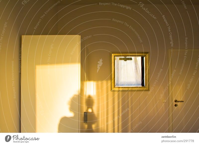 Golden Light Autumn Autumnal colours Seasons Sun Tourism wallroth Hotel Room Interior design Cupboard Furniture Wall (building) Mirror Shadow Hotel room