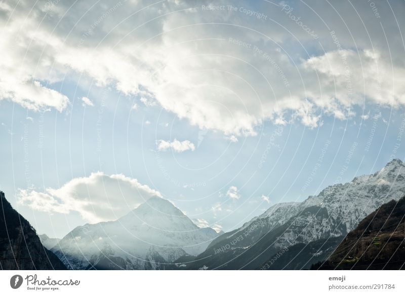 Gotthard Environment Nature Sky Winter Snow Alps Mountain Cold Blue White Colour photo Exterior shot Deserted Day Panorama (View)