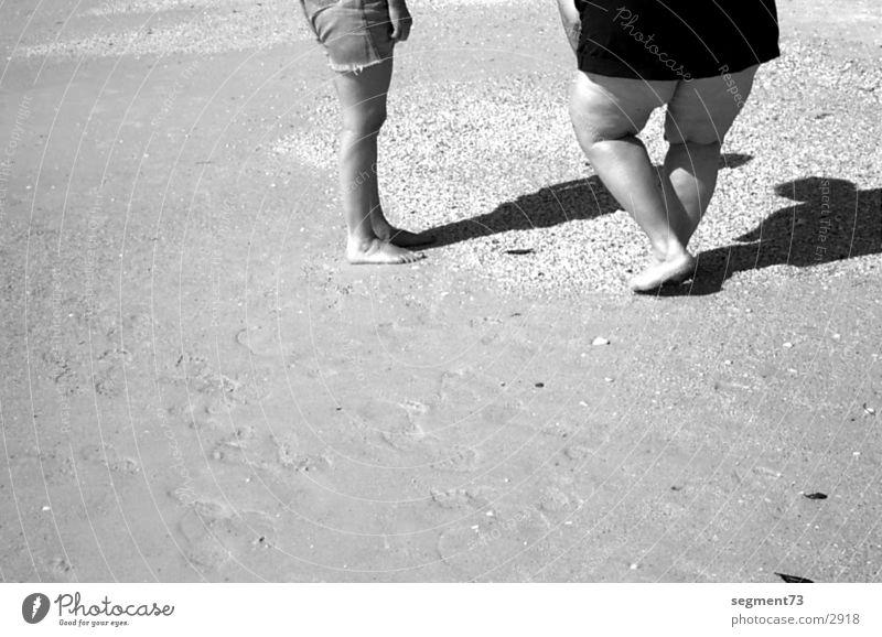 American Legs Beach Americas Human being Black & white photo